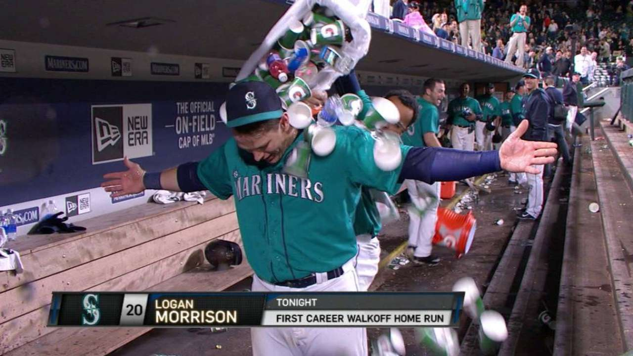 Morrison gets doused with trash