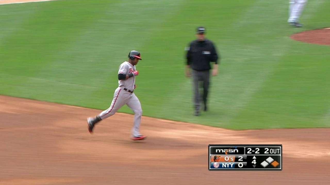 Orioles vencen a Yankees con HR de Paredes y De Aza