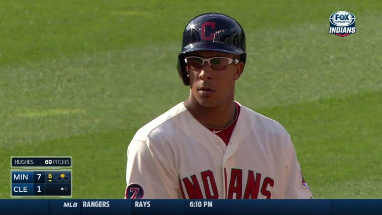 Francona talks to players about outfield logjam