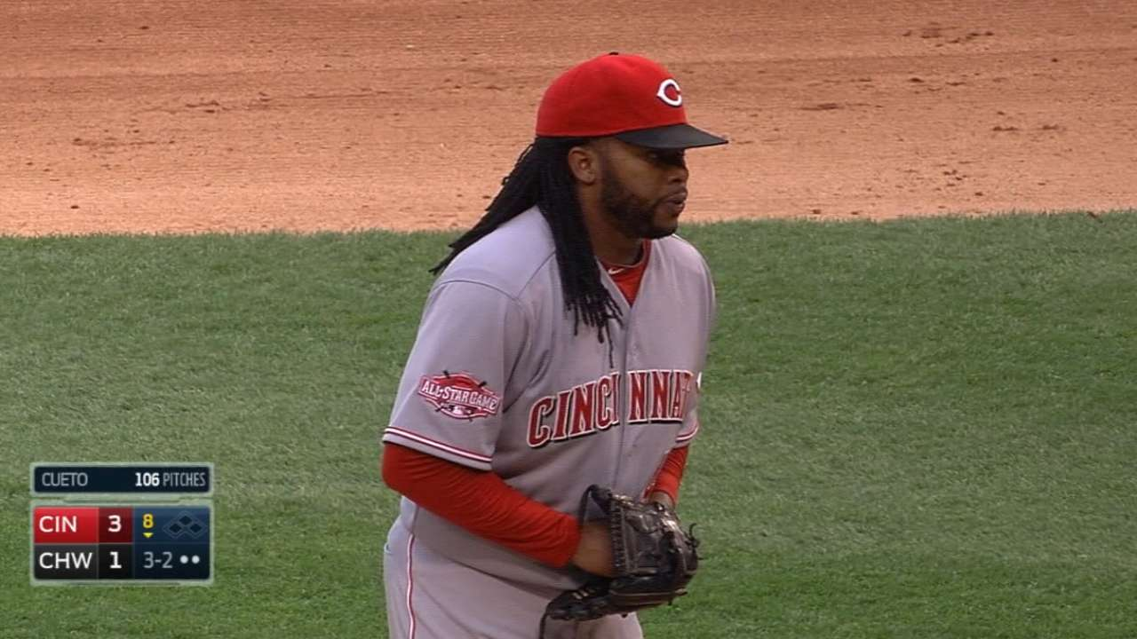 Reds get innings, win from Cueto in Game 1