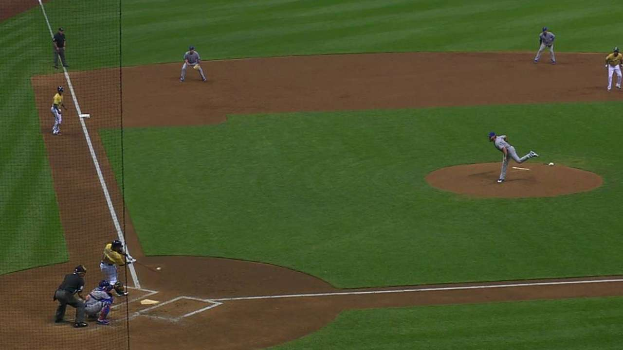 Brewers power their way past Cubs