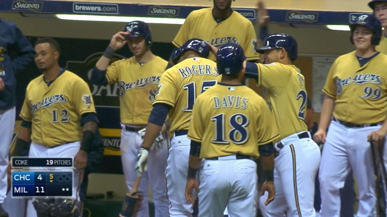 Brewers tally five in the 5th
