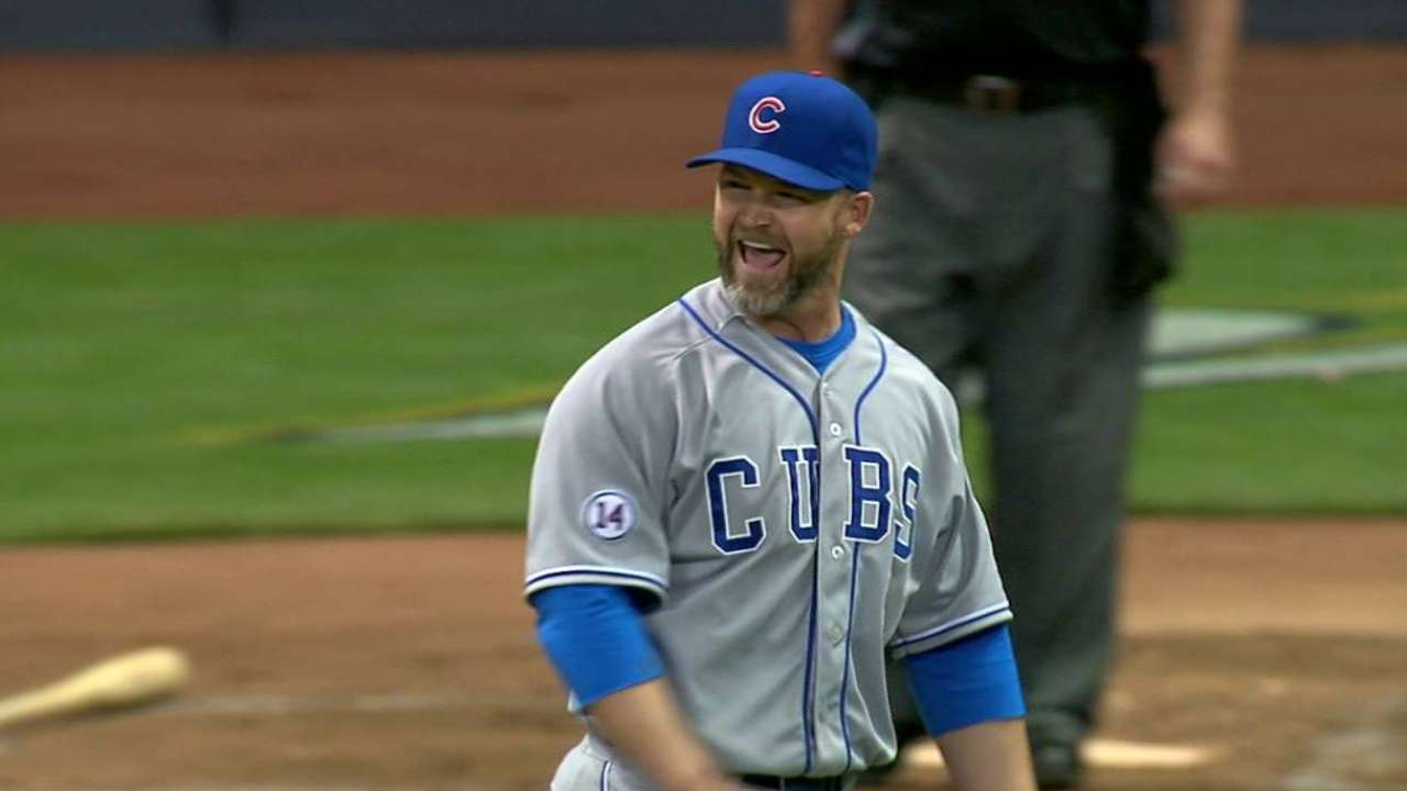 Catcher Ross pitches a perfect eighth inning