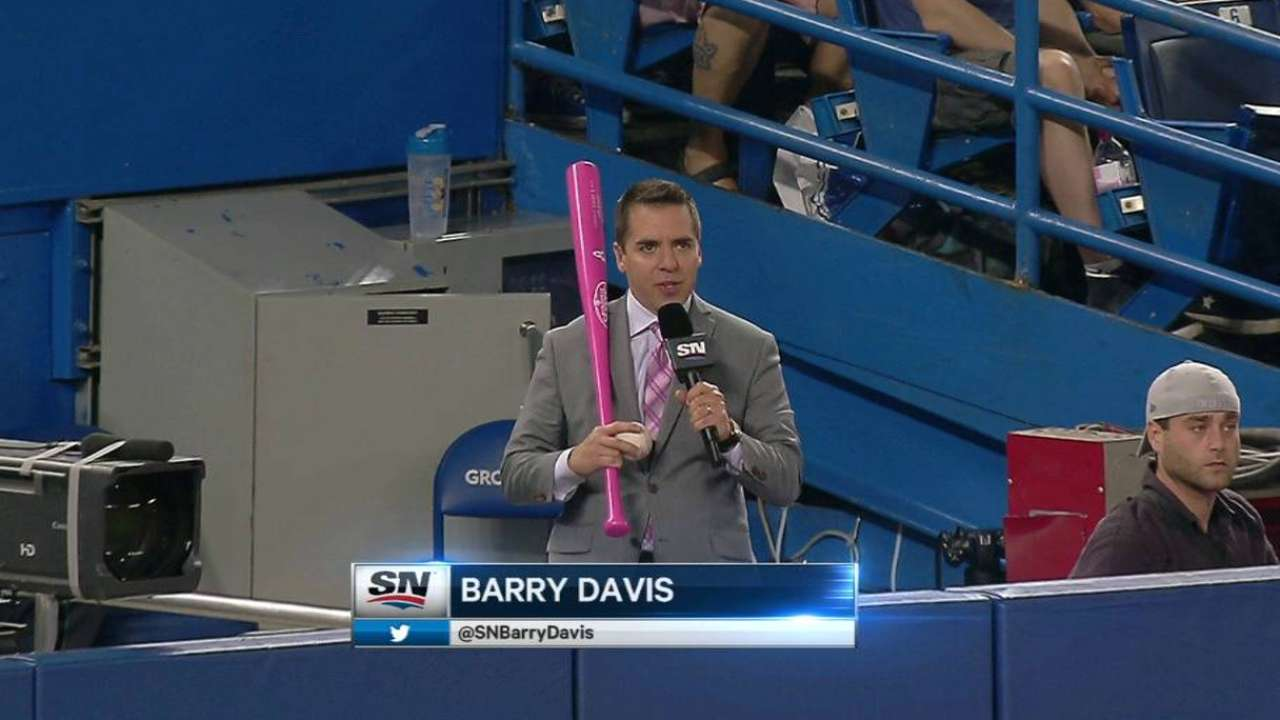 Blue Jays wear pink to pay tribute to moms