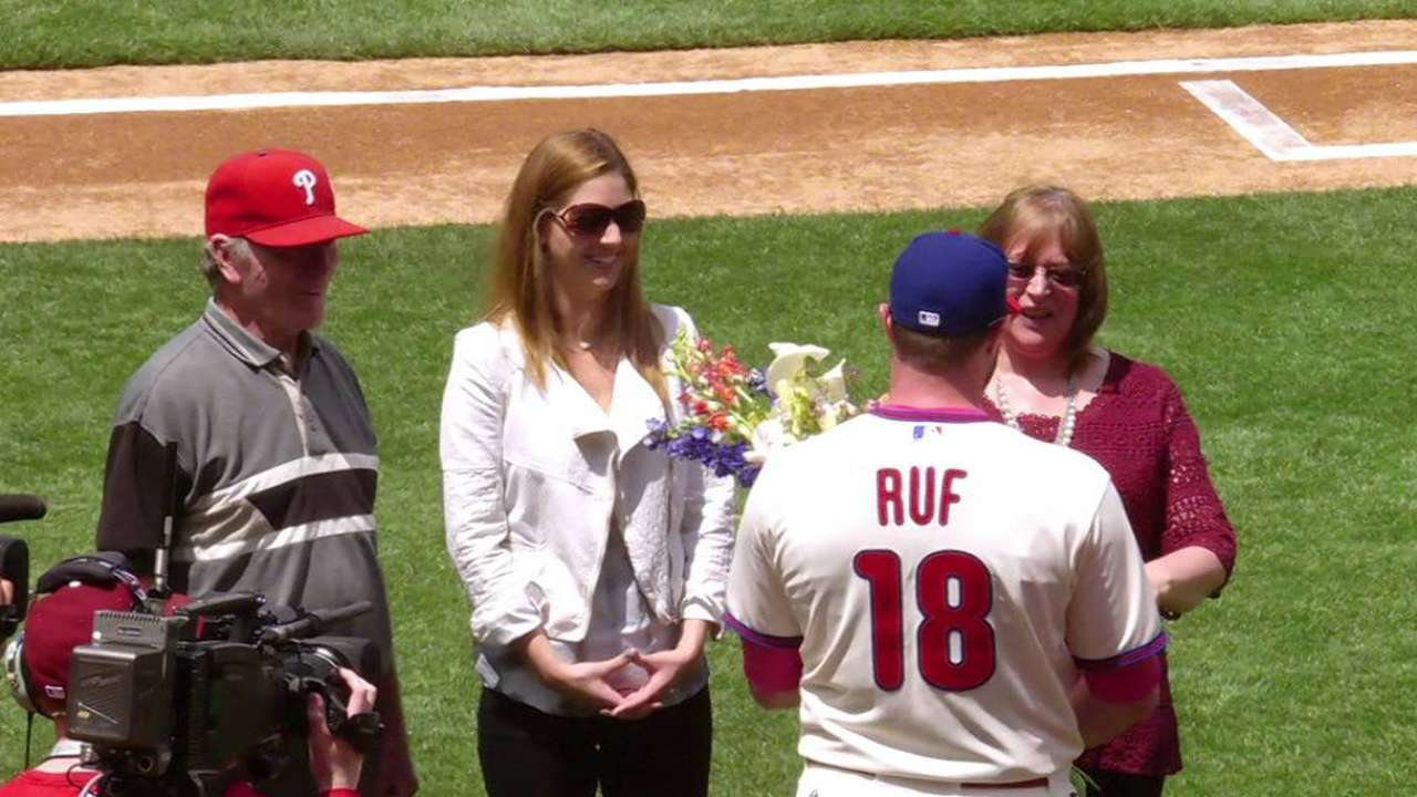 Ruf grateful for special Mother's Day reunion