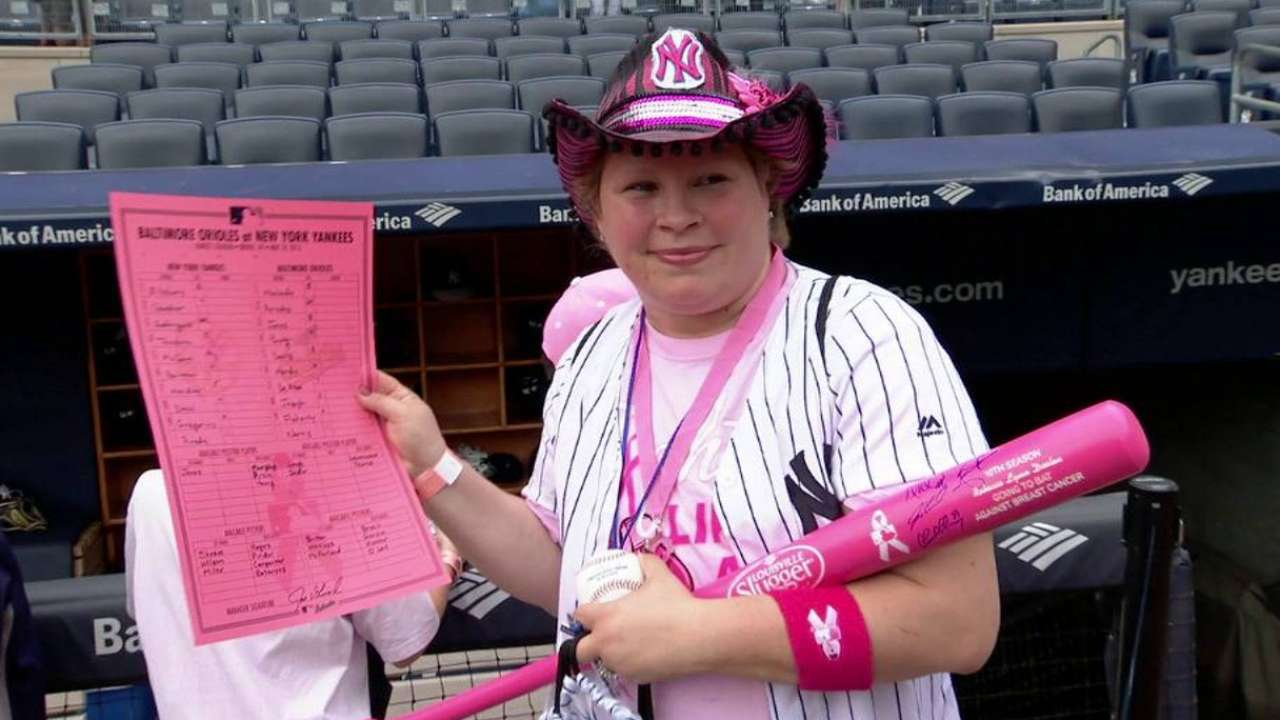 Yanks central to bat girl's fight against cancer