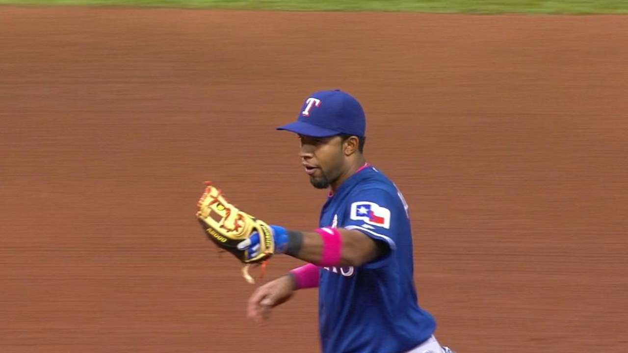 Andrus robs Longoria, turns two