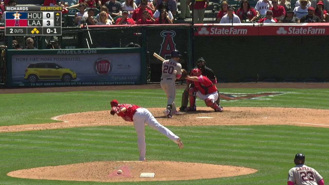 Valbuena scores on hit-by-pitch