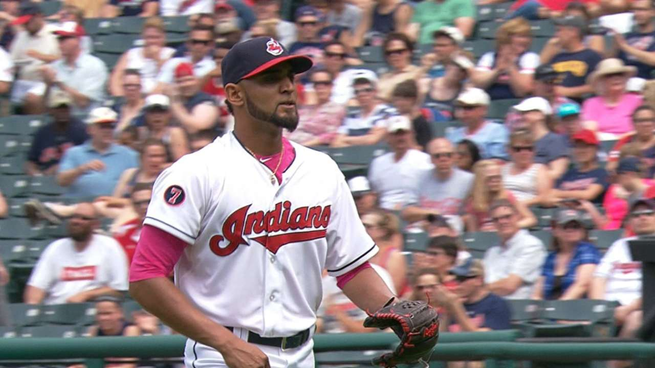 Salazar K's 11 as Indians two-hit Twins