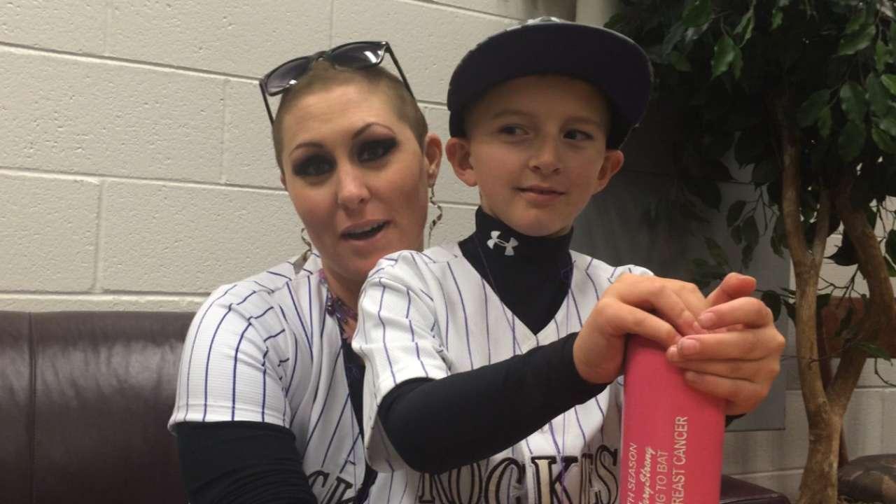 Rockies' bat girl exemplifies fighting spirit