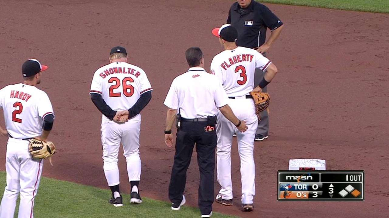 Flaherty exits in third inning with groin issue
