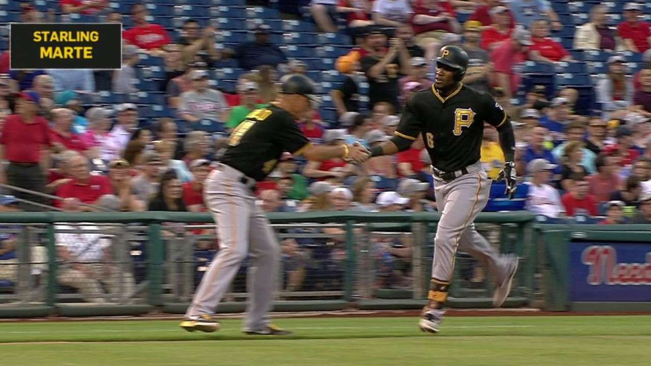 Marte's three-run homer