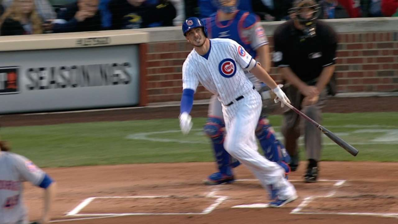 Bryant homers into new bleachers
