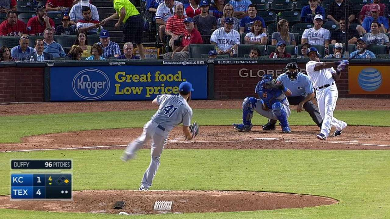 Beltre's 399th homer helps Rangers rout Royals