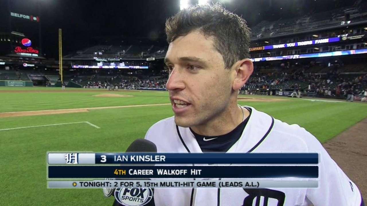 Kinsler on walk-off win