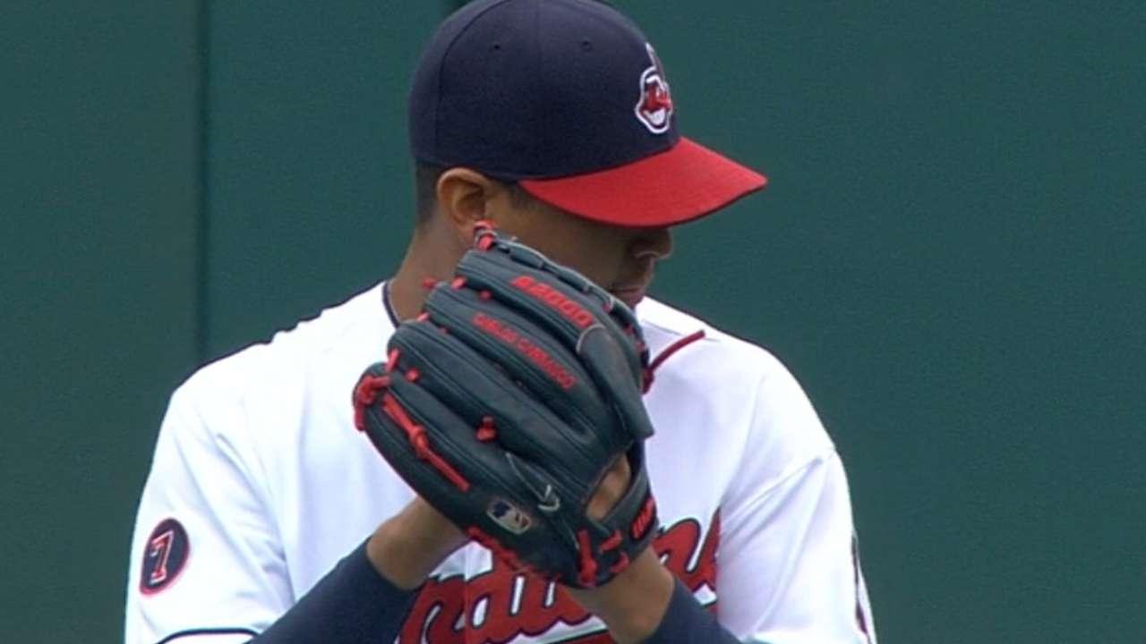Carrasco's seven strikeouts