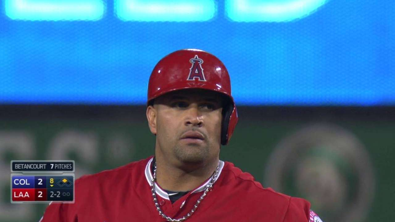 Pujols logs 99th steal