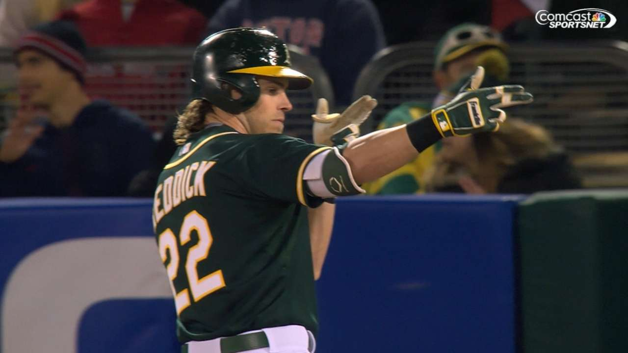A's rout Red Sox to get back in win column