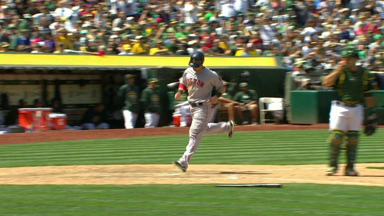 A's defensive woes prove costly vs. Red Sox