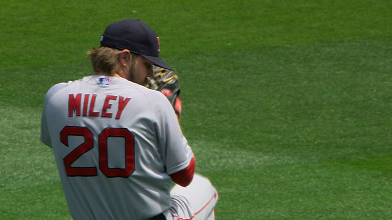 Miley's escapes help Red Sox edge Gray, A's