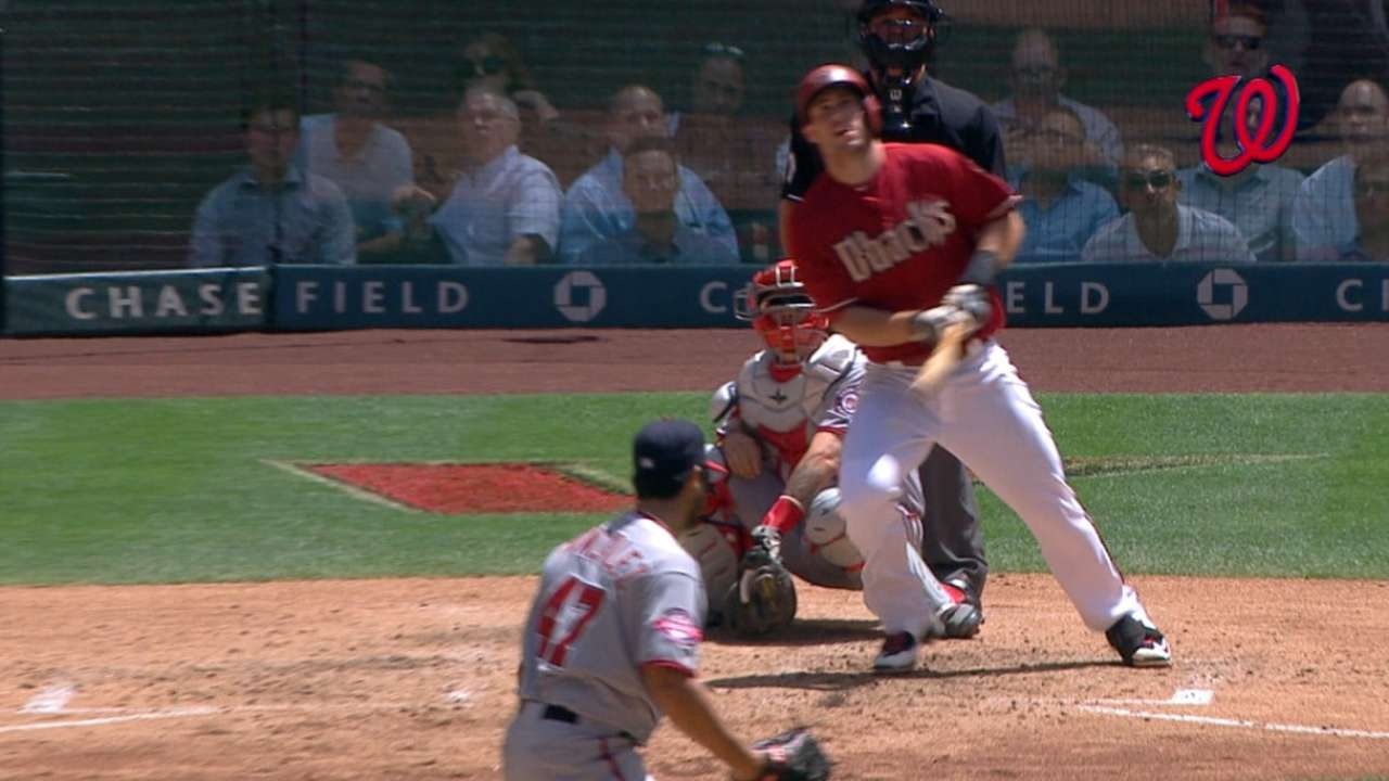 Goldy falls HR shy of cycle as part of big day