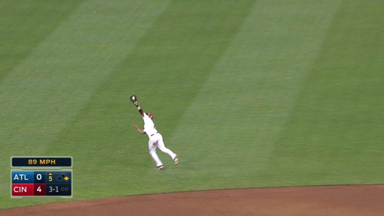 Cozart's leaping grab