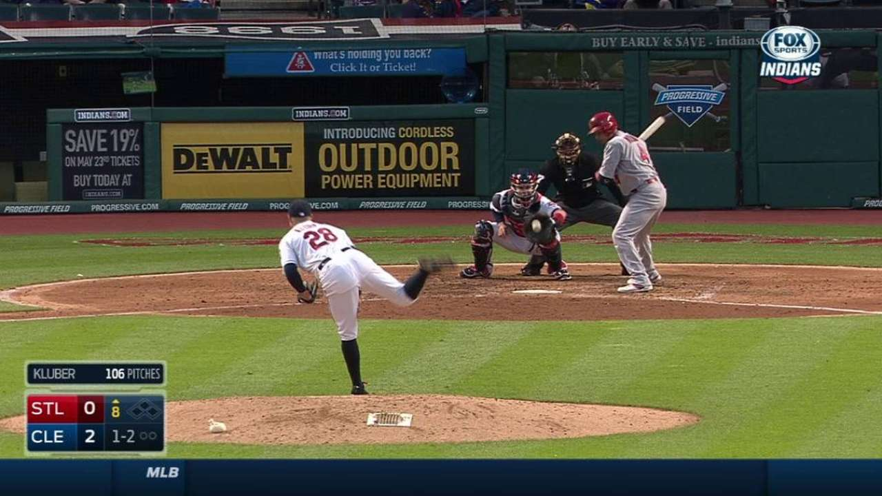 Kluber strikes out his 17th