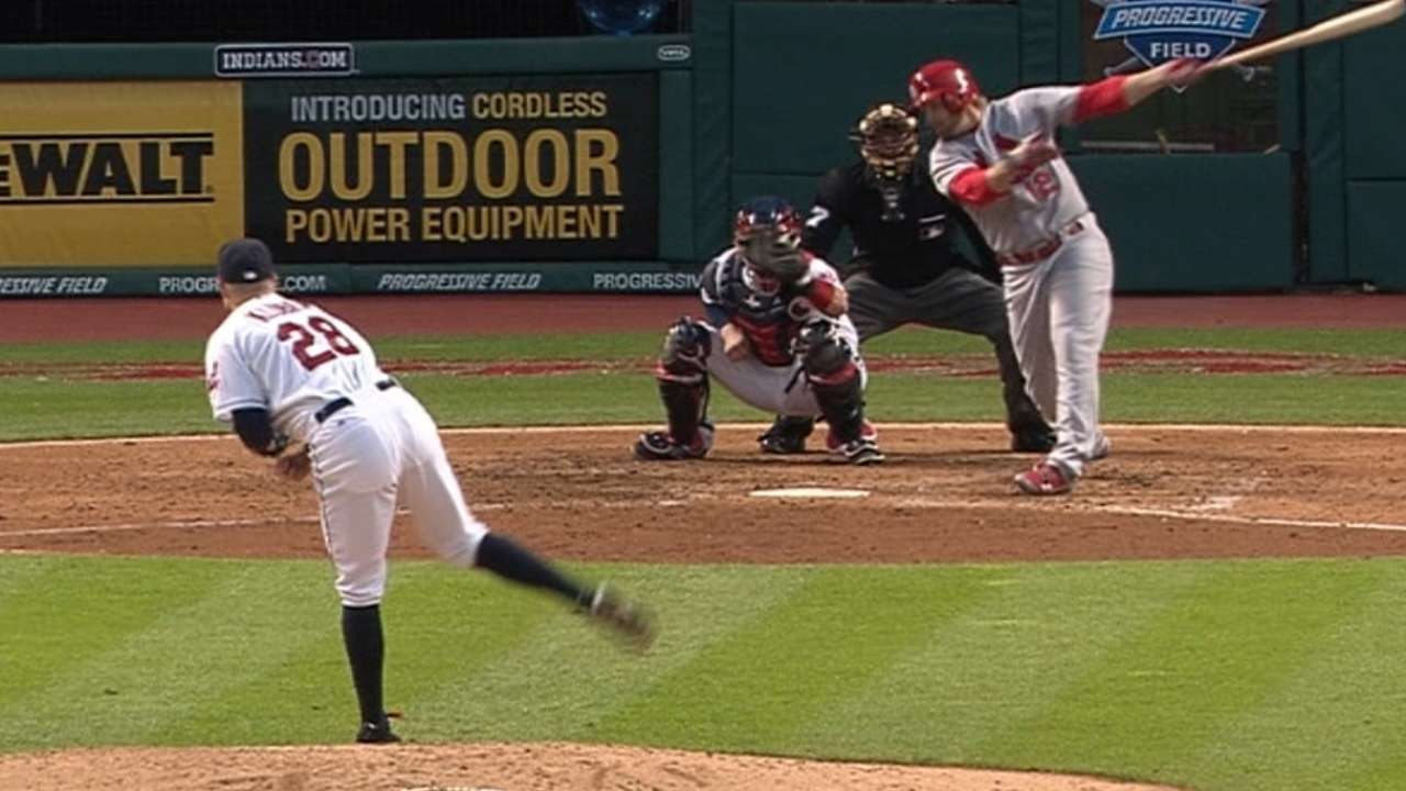 Kluber's 18th strikeout
