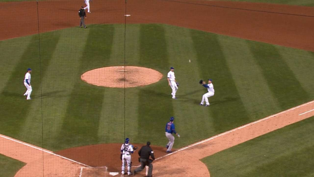 Rizzo turns the double play
