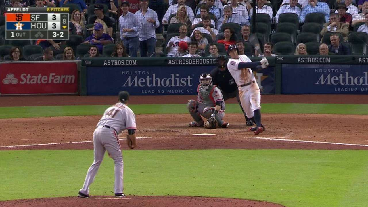 Regreso de Springer impulsó a Astros vs. Gigantes