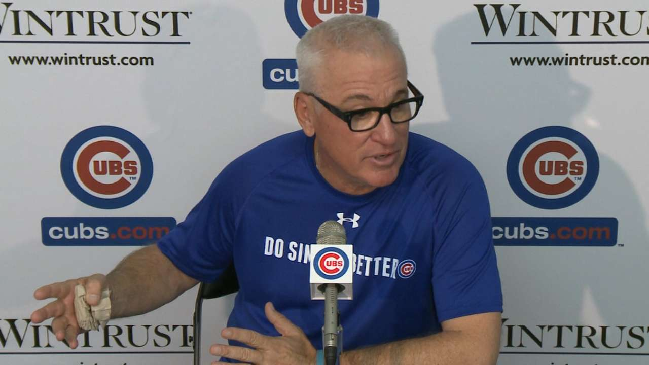 Maddon wants Cubs to cut down on bad K's