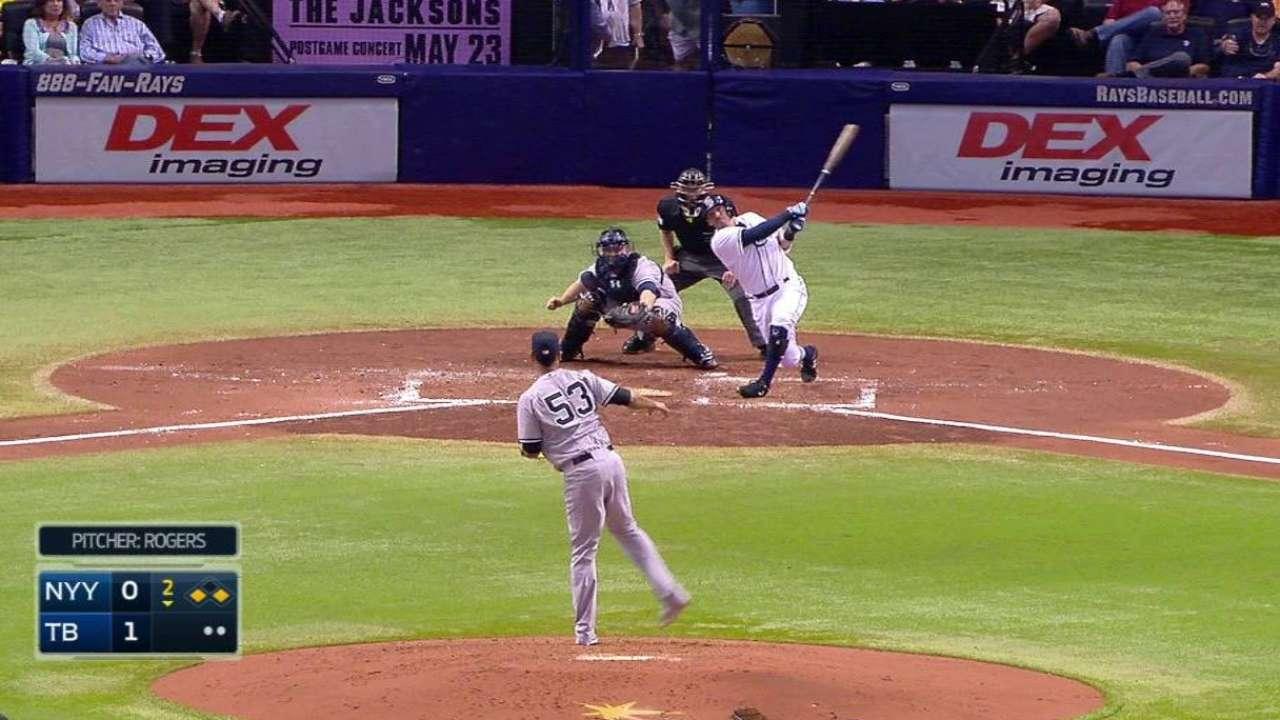 Rivera drives Rays to series victory vs. Yanks