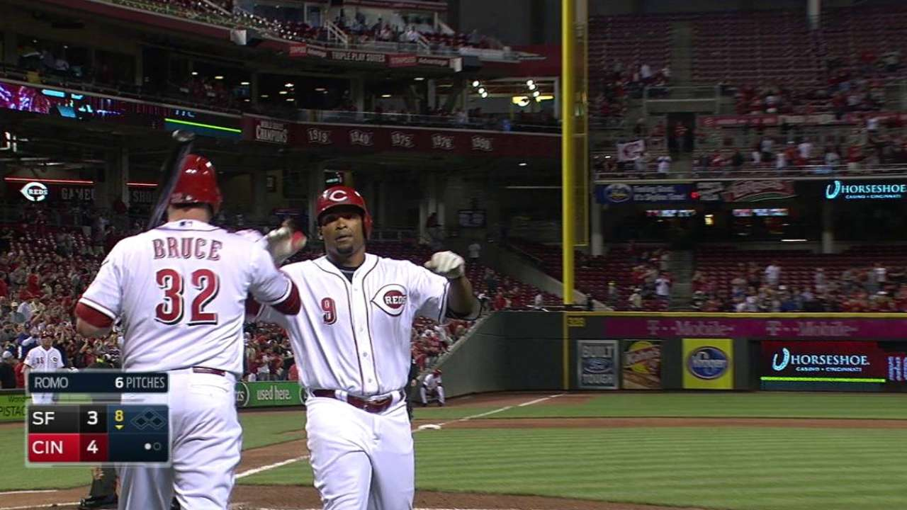 Byrd's the man for Reds in win over Giants