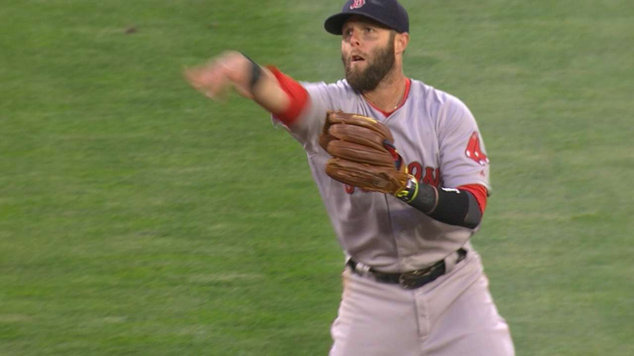 Pedroia's deflection defense