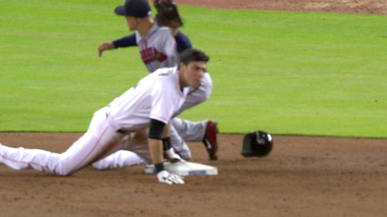 Braves challenge, call stands
