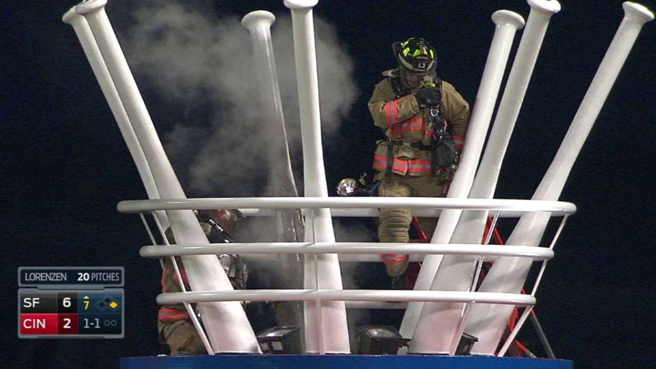 Fire extinguished at Great American Ball Park