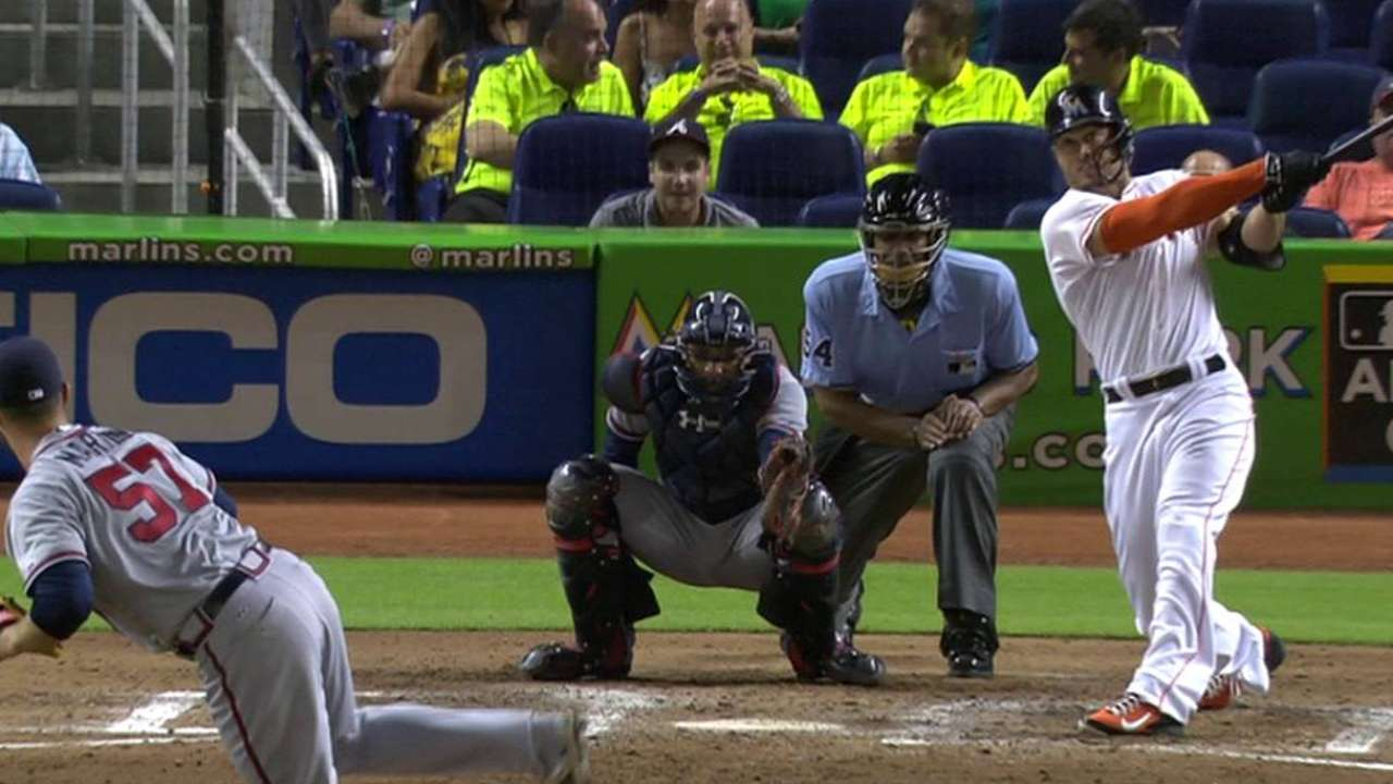 Stanton homers into camera well