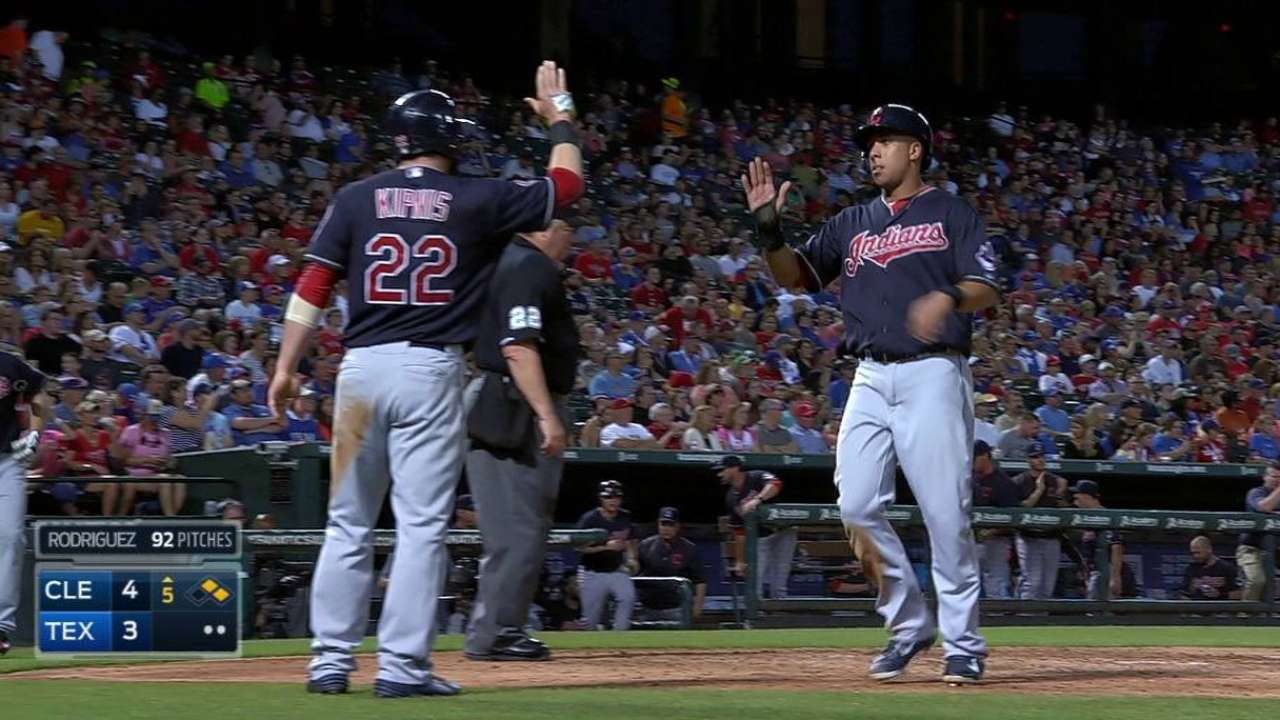 Swisher leads Tribe's offensive trio in win