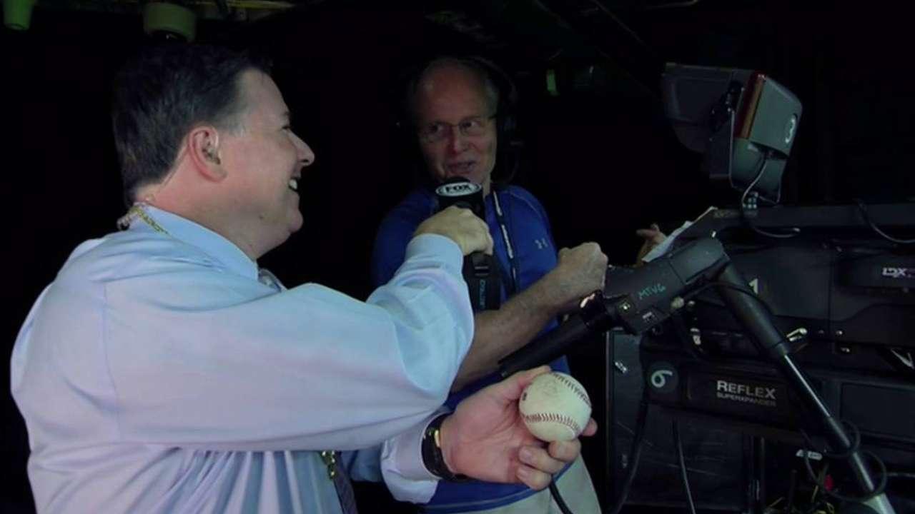 Cameraman on Stanton's homer