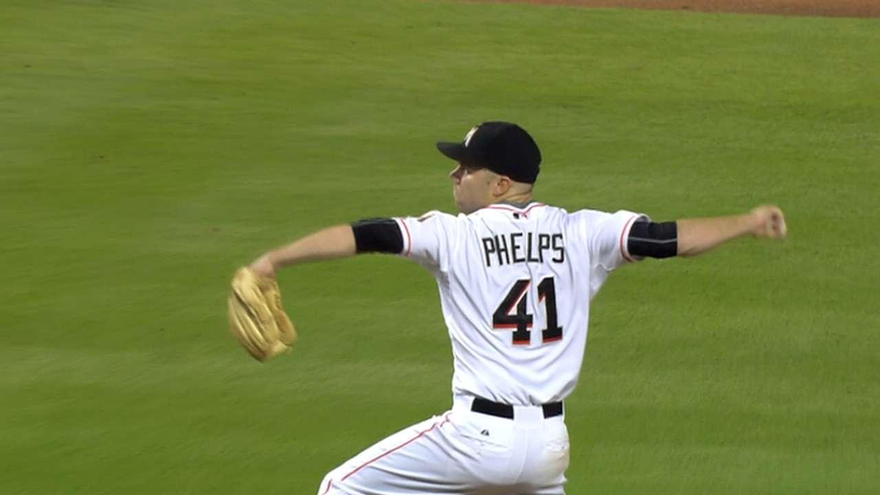 Phelps' eight strikeouts