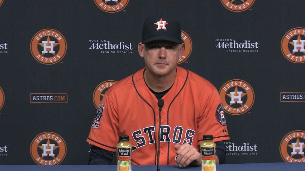 Hinch on Keuchel, offense in win