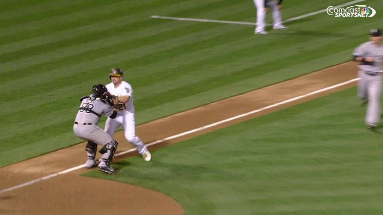White Sox end game with relay