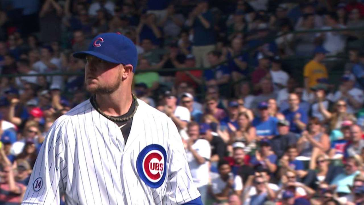 Lester notches 1,500th strikeout