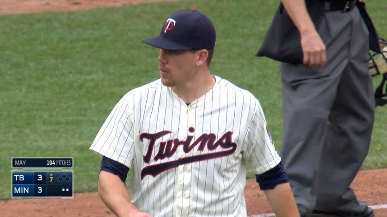 May's strong outing sets stage for late-inning win