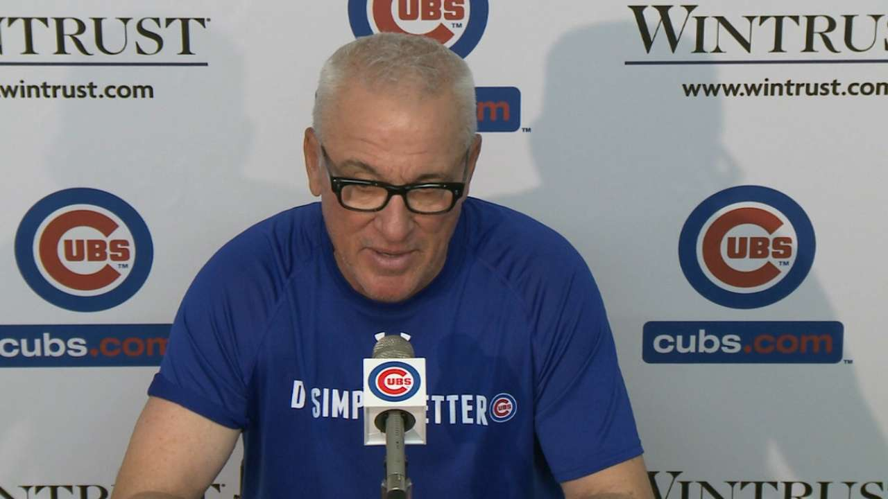 Maddon discusses Lester's outing