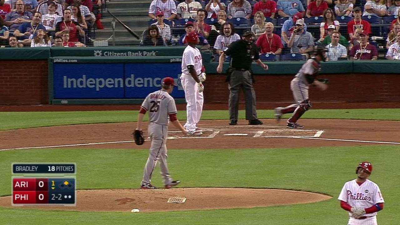 Bradley strikes out Howard