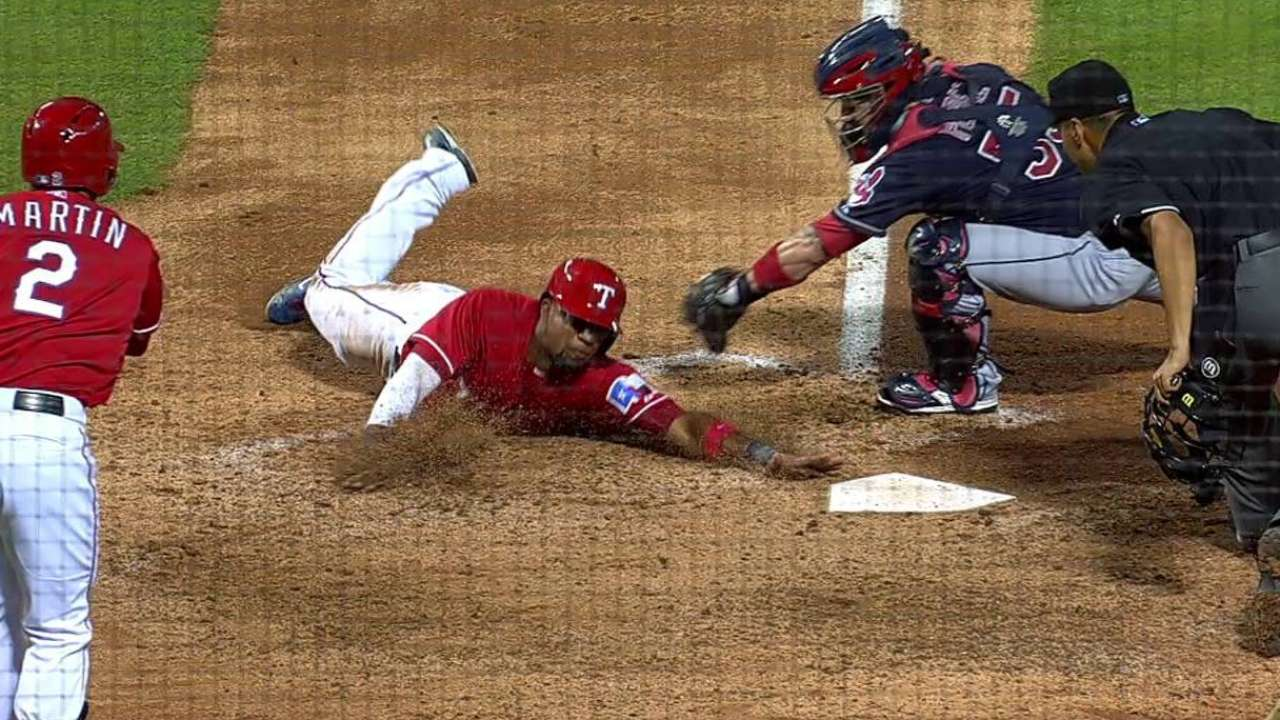 Andrus scores after steal, error