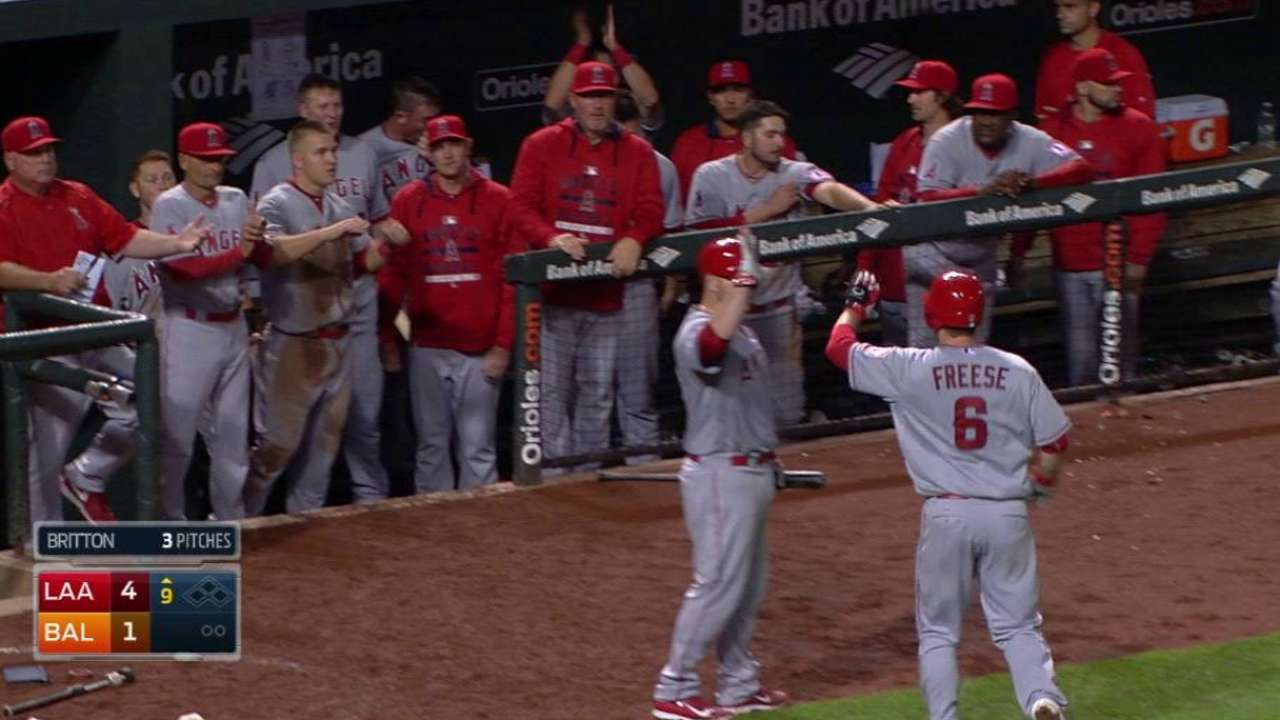 Late runs power Halos to series win over O's