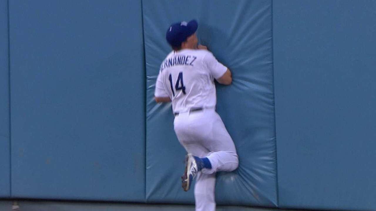 Hernandez's great catch