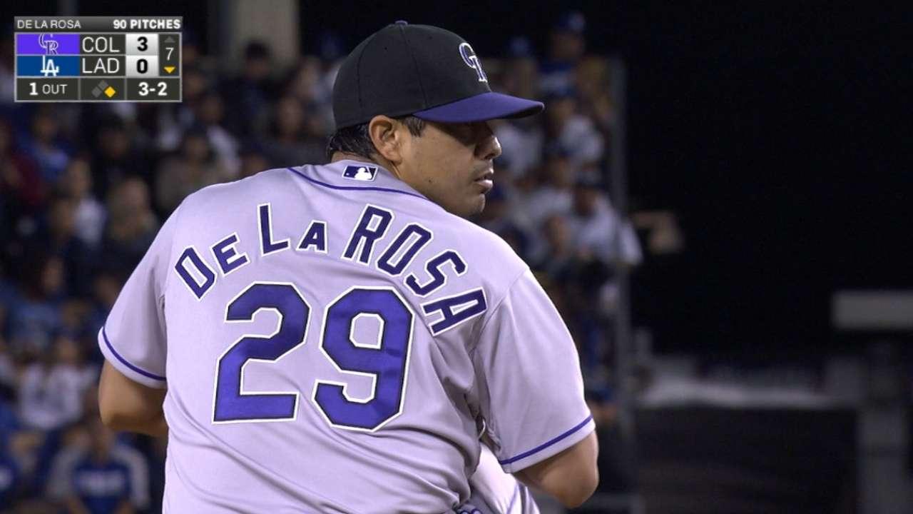 De La Rosa's gem halts Greinke's streak